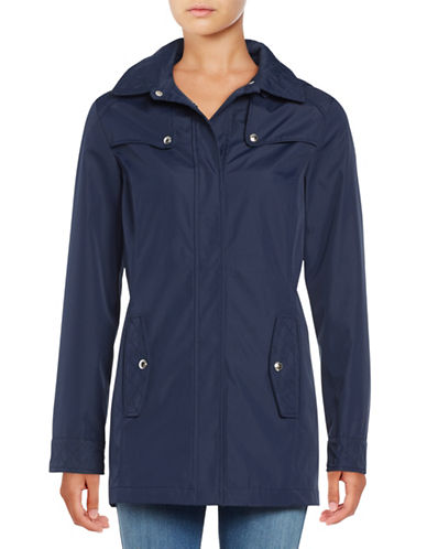 Weatherproof Hooded A-Line Jacket-NAVY-1X