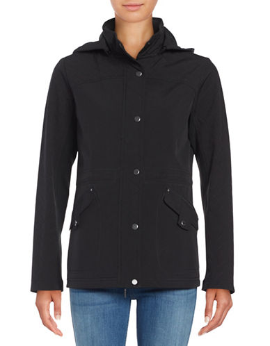 Weatherproof Quilted Soft Shell Anorak-BLACK-Medium