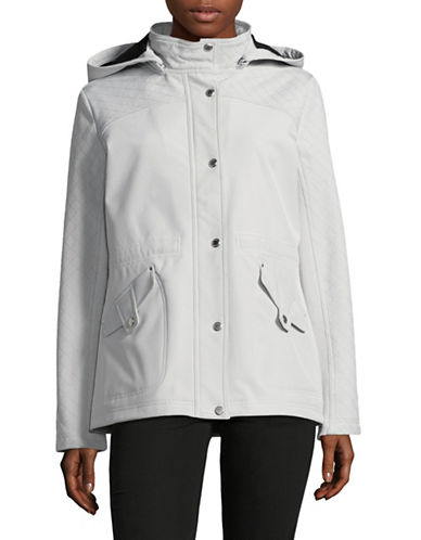 Weatherproof Plus Hooded Softshell Anorak-SILVER-2X