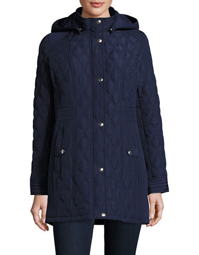 Weatherproof Quilted Hooded Walker Coat-NAVY-Medium