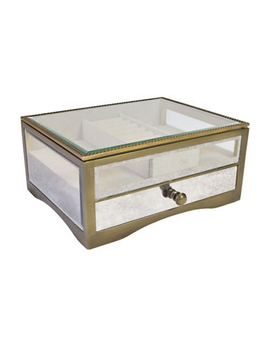 Gunther Mele Cassidy Jewellery Box-GLASS AND METAL-One Size