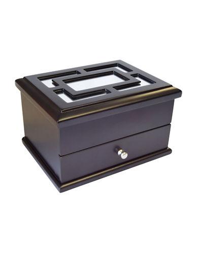 Gunther Mele Lauren Jewellery Box-JAVA-One Size