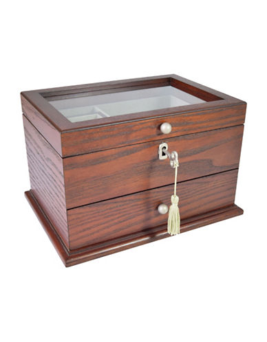 Gunther Mele Kennedy Jewellery Box-CHERRY-One Size