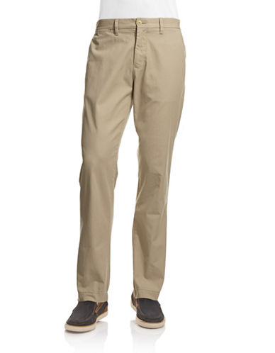 Tommy Hilfiger Straight Leg Chino Pants-TAN-32X32