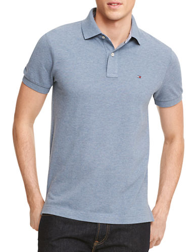 Tommy Hilfiger Ivy Custom Fit Polo-GREY-X-Large