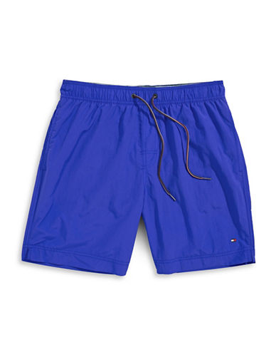 Tommy Hilfiger Tommy Solid Swim Trunks-CORE BLUE-Large
