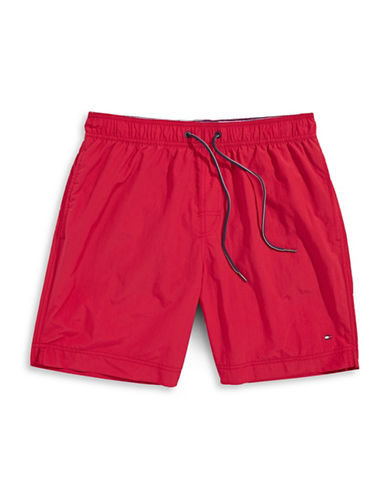 Tommy Hilfiger Tommy Solid Swim Trunks-APPLE RED-Medium