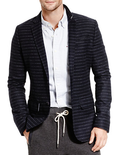Tommy Hilfiger James Wool-Blend Striped Sports Jacket-NAVY-Small