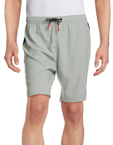 Tommy Hilfiger Colourblocked Active Shorts-LIMESTONE-Medium 88102223_LIMESTONE_Medium