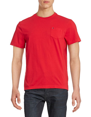 Tommy Hilfiger Solid Cotton T-Shirt-RACING RED-XX-Large