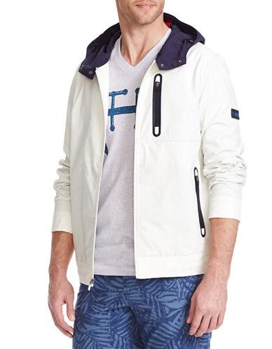 Tommy Hilfiger Kalinago Waxed Windbreaker Jacket-SNOW WHITE-XX-Large