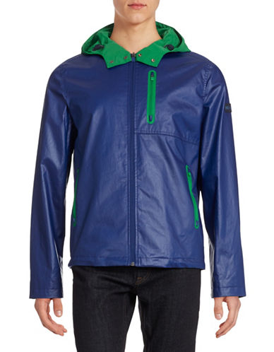 Tommy Hilfiger Kalinago Waxed Windbreaker Jacket-DIAMOND BLUE-Large