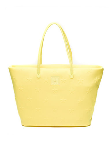 Tommy Hilfiger Sporty Embroidered Stars Tote-YELLOW-One Size