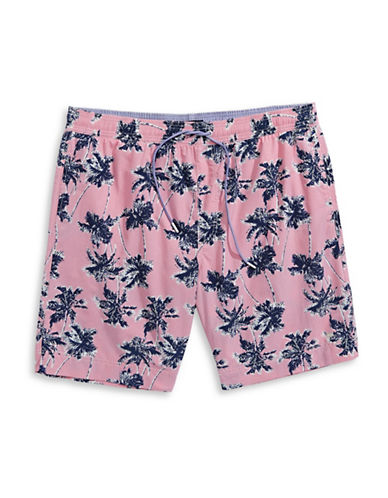 Tommy Hilfiger Big and Tall Regal Palms Swim Trunks-GRANITA-4X Tall