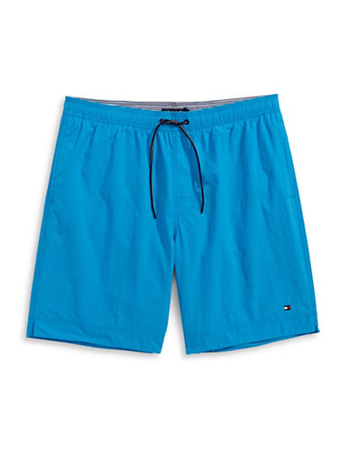 Tommy Hilfiger Solid Swim Trunks-BLUE-5X Tall