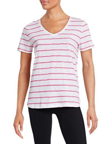 Tommy Hilfiger Rope Stripe V-Neck T-Shirt-WHITE-X-Small 88488551_WHITE_X-Small