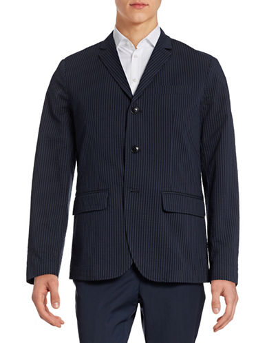 Tommy Hilfiger Zach Seersucker Sport Jacket-MIDNIGHT-46