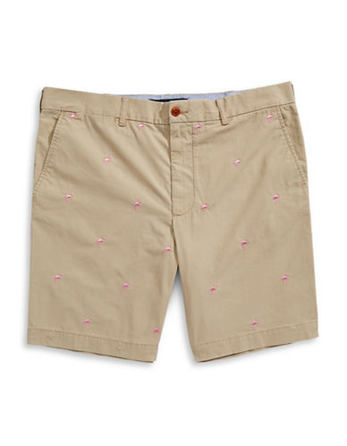 Tommy Hilfiger Flamingo Embroidered Shorts-MALLET-40X36