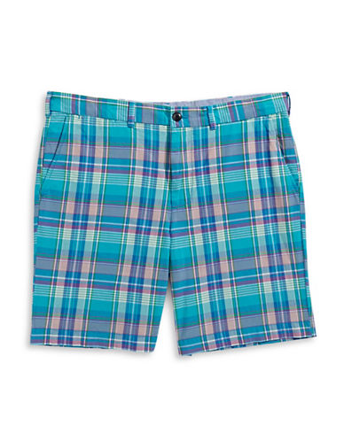 Tommy Hilfiger Classic-Fit Madras Plaid Shorts-COPPER-38X36