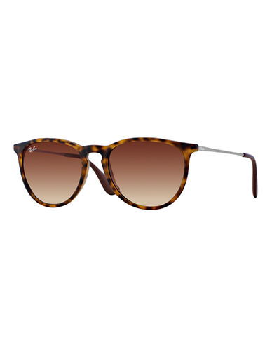 Ray-Ban Erika Round Sunglasses-RUBBER TORTOISE (865/13)-54 mm