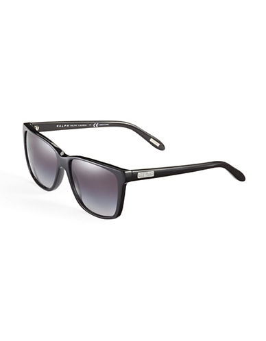 Ralph By Ralph Lauren Eyewear 57mm Rectangle Sunglasses-BLACK-One Size