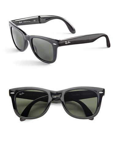 Ray-Ban Folding Wayfarers-GLOSSY BLACK (601)-50 mm