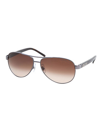 Ralph By Ralph Lauren Eyewear Aviator Sunglasses-GUNMETAL/GREY HORN-One Size