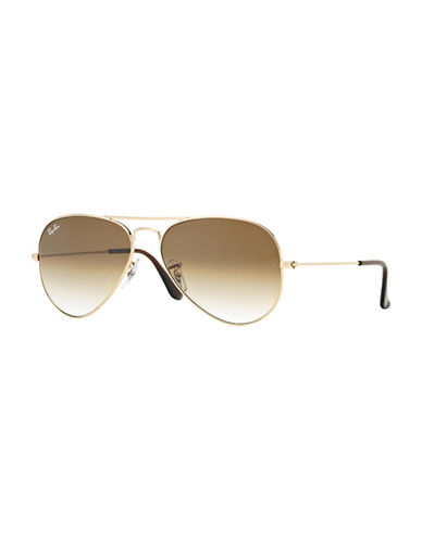 Ray-Ban Polarized 58mm Aviators-GOLD-58 mm