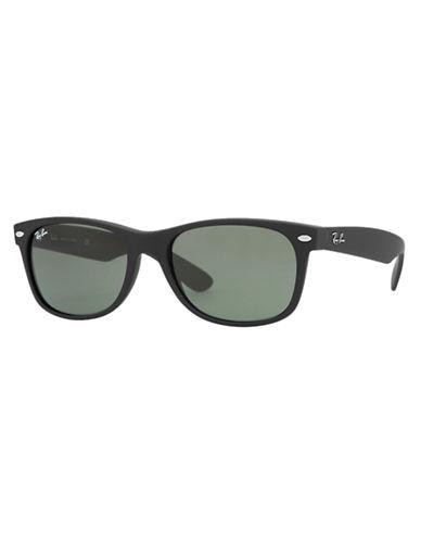 Ray-Ban 55mm Square Wayfarer Sunglasses-BLACK RUBBERIZED (622)-52 mm