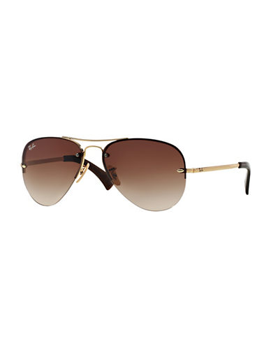 Ray-Ban 0RB3449 59mm Pilot Sunglasses-BROWN-59 mm