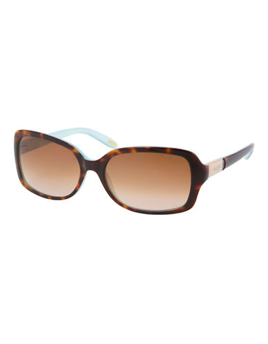 Ralph By Ralph Lauren Eyewear Ra5130 Ralph Plastic Oval Sunglasses-TORTOISE AND TURQUOISE-One Size