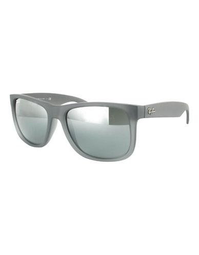 Ray-Ban Justin 54mm Rectangle Sunglasses-GREY TRANSPARENT (852/88)-55 mm