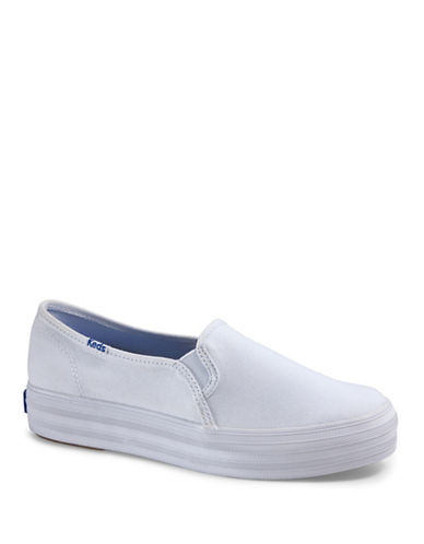 Keds Womens Triple Decker Canvas  Sneakers-WHITE-6
