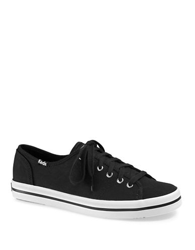 Keds Womens Kickstart Sneakers-BLACK-9.5