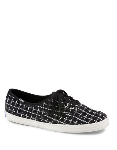 Keds Womens Champion Metallic Boucle Canvas Sneakers-BLACK-10