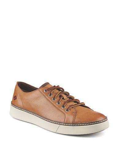 Sperry Clipper LTT Leather Sneakers-TAN-7