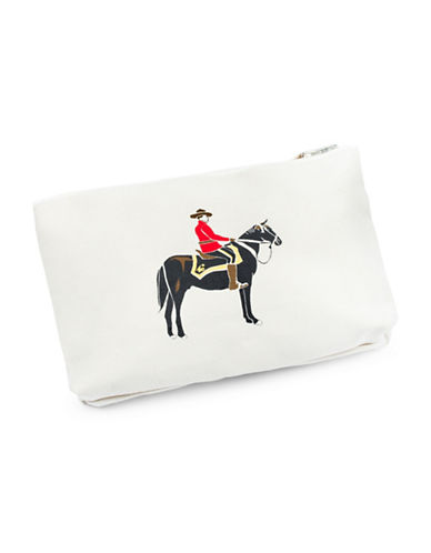 Drake General Store RCMP Horseman Cotton Pencil Case-RED-One Size