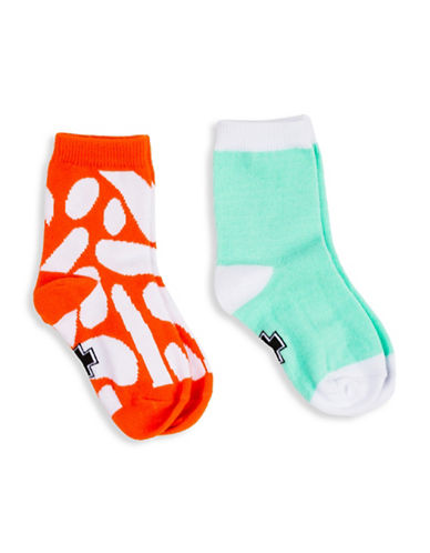 Drake General Store Tough Luck Two-Pack Blob-Print Socks-MULTI-2-3