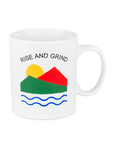 Drake General Store Rise and Grind Ceramic Mug-MULTI-One Size