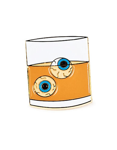 Drake General Store Cocktail Eyes Pin-BEIGE-One Size