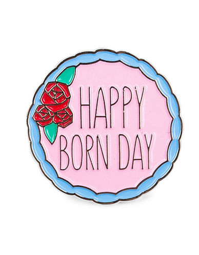 Drake General Store Happy Born Day Pin-PINK-One Size