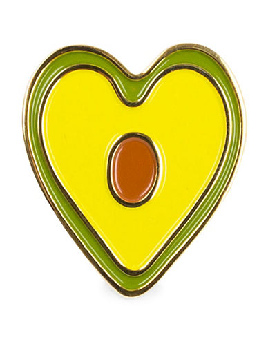 Drake General Store Avocado Heart Pin-YELLOW-One Size