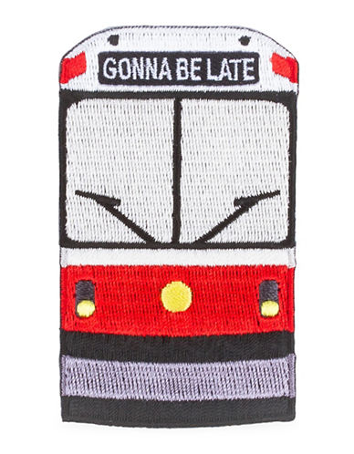 Drake General Store Streetcar Embroidered Patch-RED-One Size
