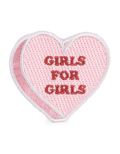 Drake General Store Girls for Girls Embroidered Patch-PINK-One Size