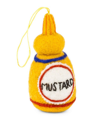 Drake General Store Mustard Wool Ornament-YELLOW-One Size