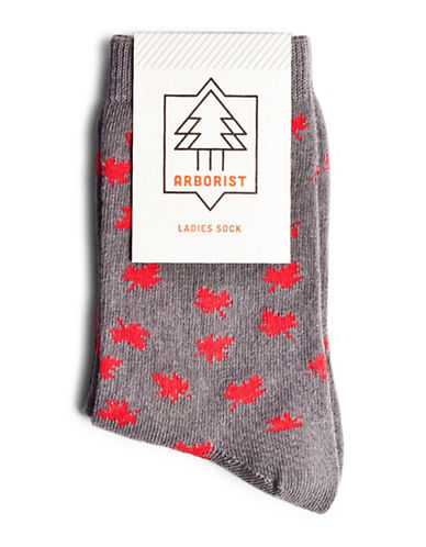 Drake General Store Womens Canada Socks-GREY-One Size