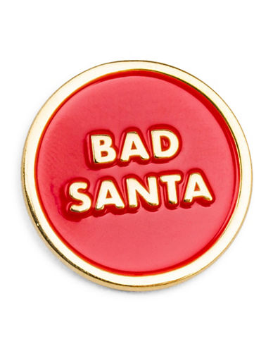 Drake General Store Bad Santa Festive Pin-RED-One Size