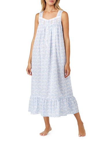 Eileen West Lawn Ballet Nightgown-BLUE-Small