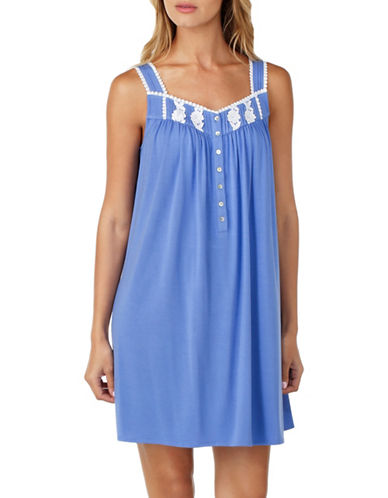 Eileen West Short Chemise-BLUE-Medium