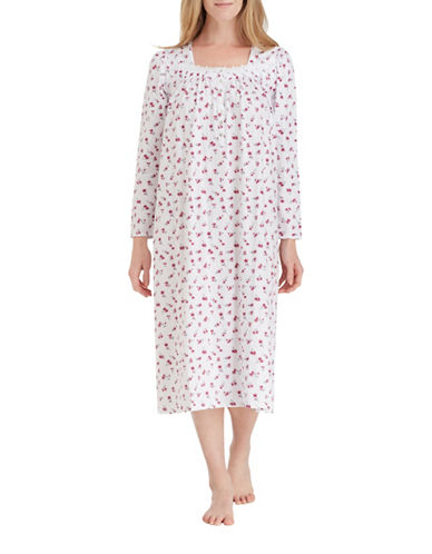 Eileen West Ballet Cotton Nightgown-WHITE-Small